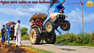 Arjun novo 605 cab vs new holland 3630 tractor tochan in haryana