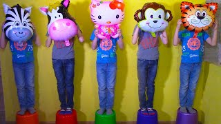 Five little monkeys Jumping On The Bed song with Baby