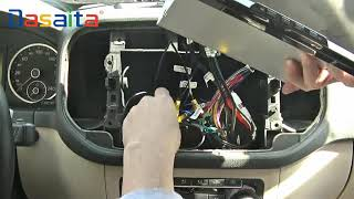 Volkswagen tiguan remove CD and install car android 8.0 head-unit