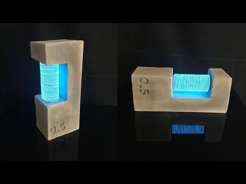 DIY Neon Cement Lamp