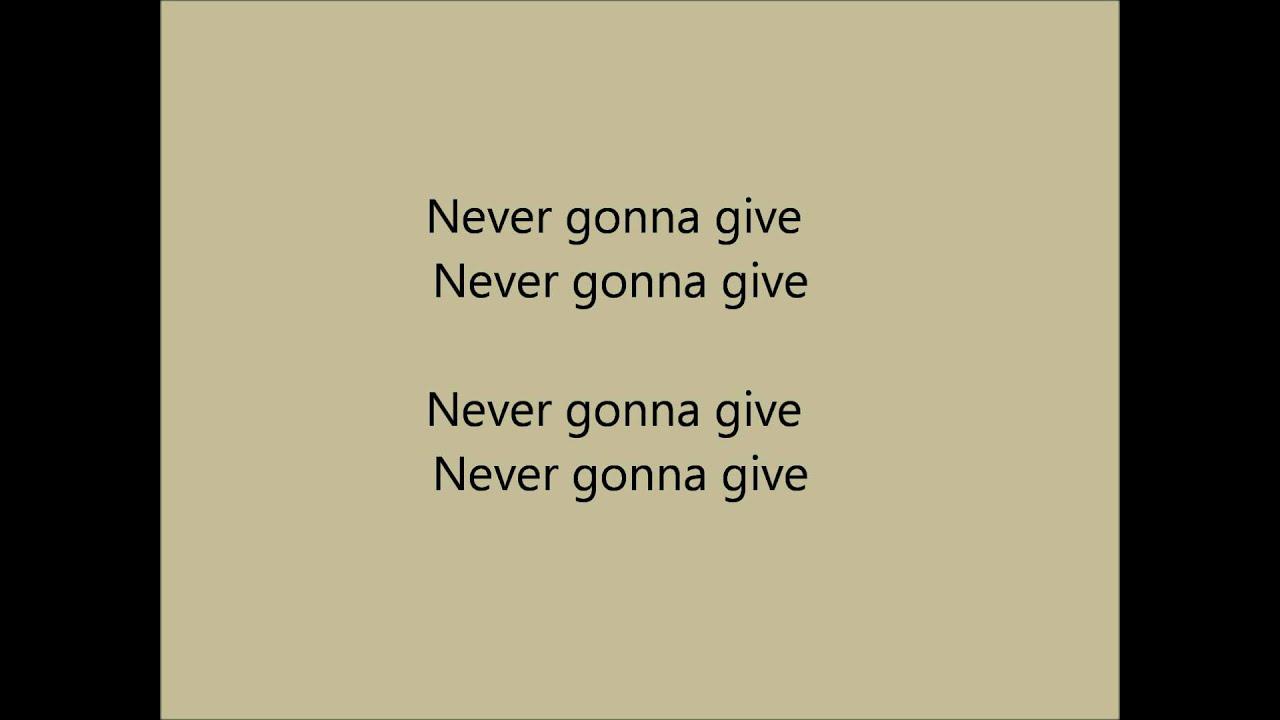 Never Gonna Give You Up Rick Astley Karaoke / Instrumental ...