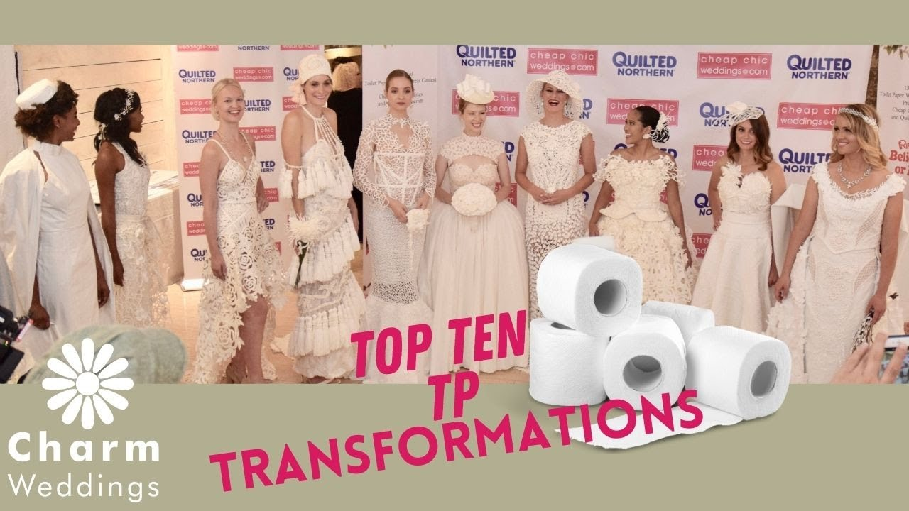 Top 10 Finalists The 2017 Toilet Paper Wedding Dress Contest