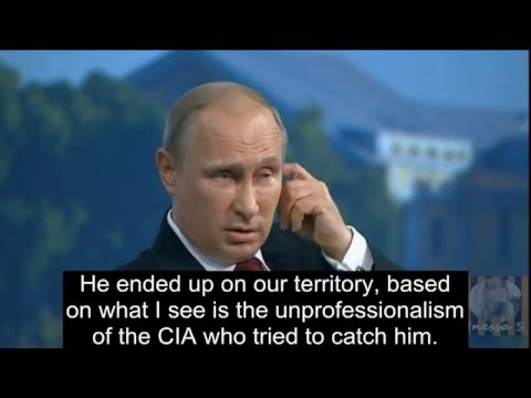Download Youtube: Putin on Edward Snowden; takes a dig on America