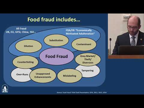 ILSI NA: FNSP 2017: Food Fraud Prevention: The Role of Science and Technology – (Roy Fenoff. PhD)