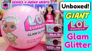 GIANT LOL SURPRISE GLAM GLITTER BALL!! L.O.L. UNDER WRAPS SERIES 4 EYE SPY BIG SISTERS FASHION CRUSH