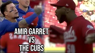 Amir Garrett screams at Rizzo after striking him out, a breakdown