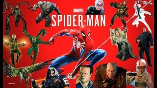 SPIDER-MAN PS4 - ALL BOSS BATTLES WITH ALL DLC