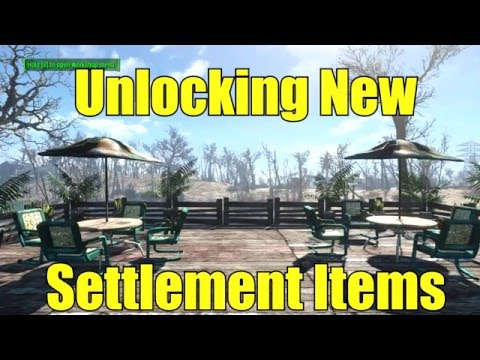 Fallout 4: new items for your settlement!
