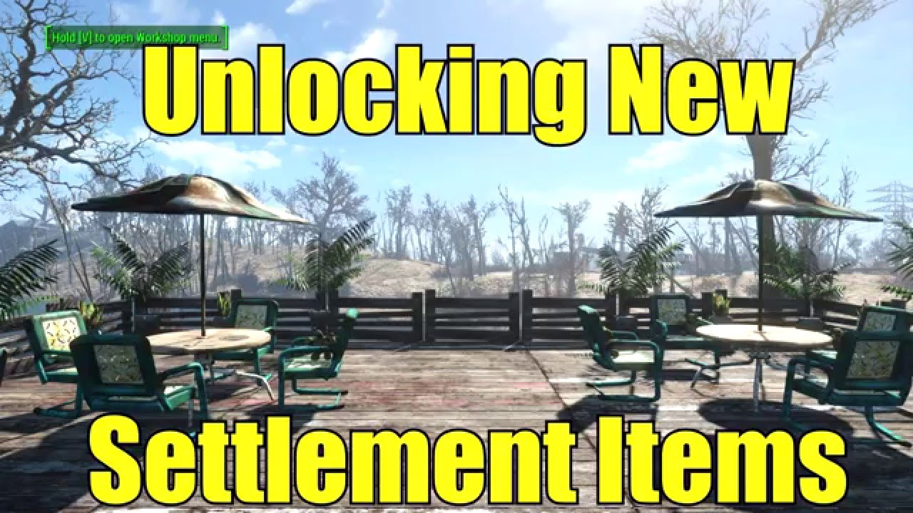 Fallout 4 new items for your settlement youtube