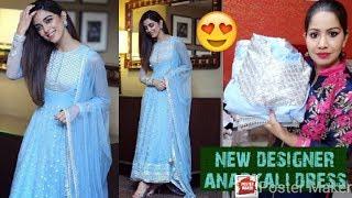 Beautyfull desighner anarkali dress online shopping review anarkali gown