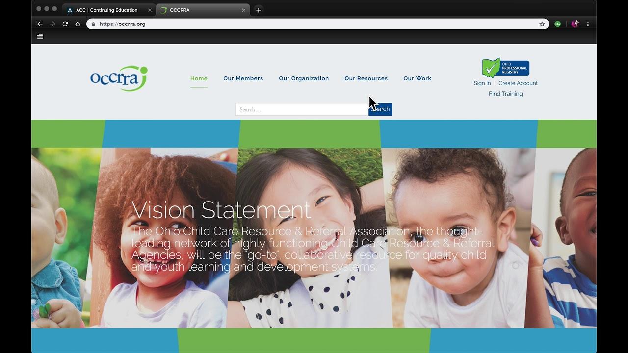 Autism Certification Center Continuing Education Verification Occrra Walkthrough