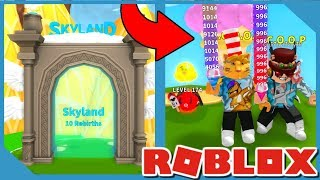 NEW SKY LAND UPDATE IN ROBLOX ICE CREAM SIMULATOR *BEST HATS & NEW PETS*