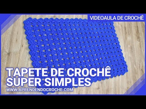 TAPETE DE CROCHÊ SUPER SIMPLES / APRENDENDO CROCHÊ