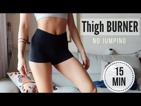 15 min BURN THIGH FAT WORKOUT (NO JUMPING!) TO SLIM INNER THIGHS & LEGS