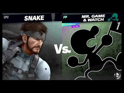Super Smash Bros Ultimate Amiibo Fights   Request #4404 Snake vs Mr Game & Watch