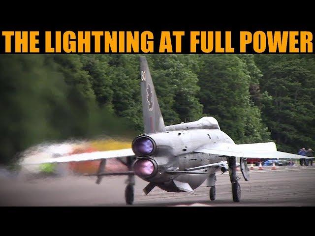 Lightning 90,000+Bhp Mach 2 Interceptor Full Power Run | Bruntingthorpe 2019