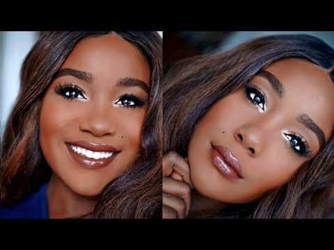 Black Women Makeup Tutorial Everyday Makeup Look - 2018 Oily Skin Acne I Rose Kimberly - 동영상