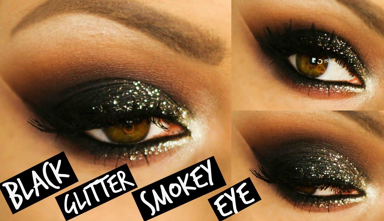 Black Glitter Smokey Eye Makeup Laura Sommerville Youtube