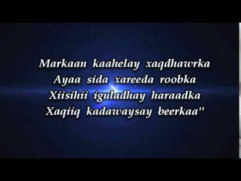 HEESTA XAMDA MURSAL MUUSE CUMAR (Lyrics)