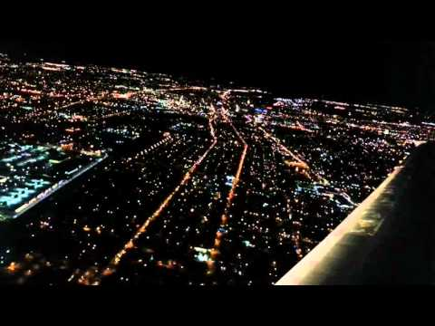 Night landing in Columbus, Ohio