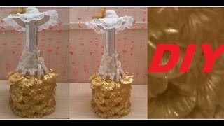 Декор бутылки шампанского на свадьбу ЗОЛОТО✔ ℳAℛίℕℰ DIY✔