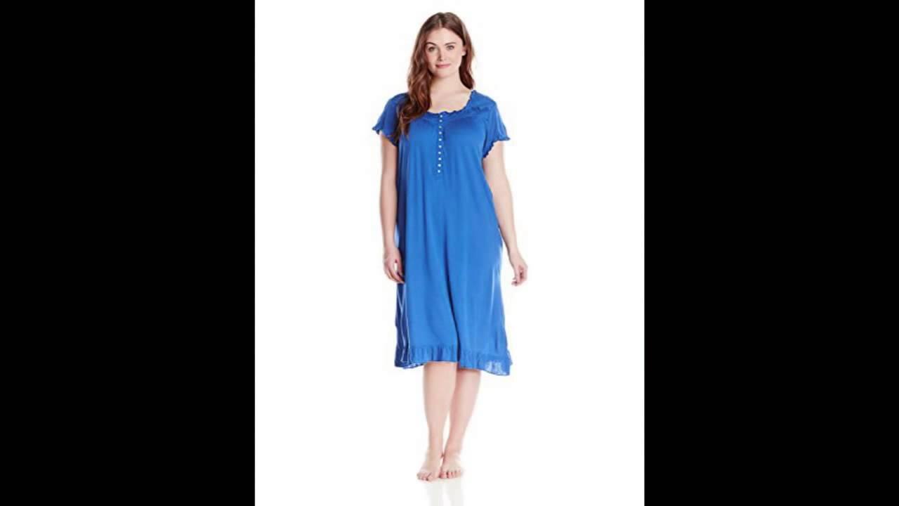 Eileen West Women\'s Plus-Size Belvedere Bloom Cap Sleeve Waltz ...
