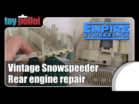 Fix it guide - Star Wars Snowspeeder rear end repair guide, vintage Kenner toys