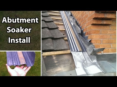 How To Join A Roof Install An Abutment Soaker Secret