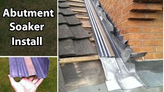 How to Join a Roof Install an Abutment Soaker / Secret Gutter