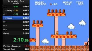Super Mario Bros Speedrun (5:17) by lamons (PB)