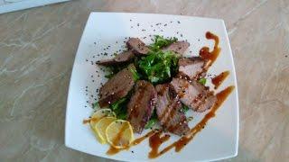 КУЛИНАРНОЕ ПУТЕШЕСТВИЕ как приготовить теплый стейк салат