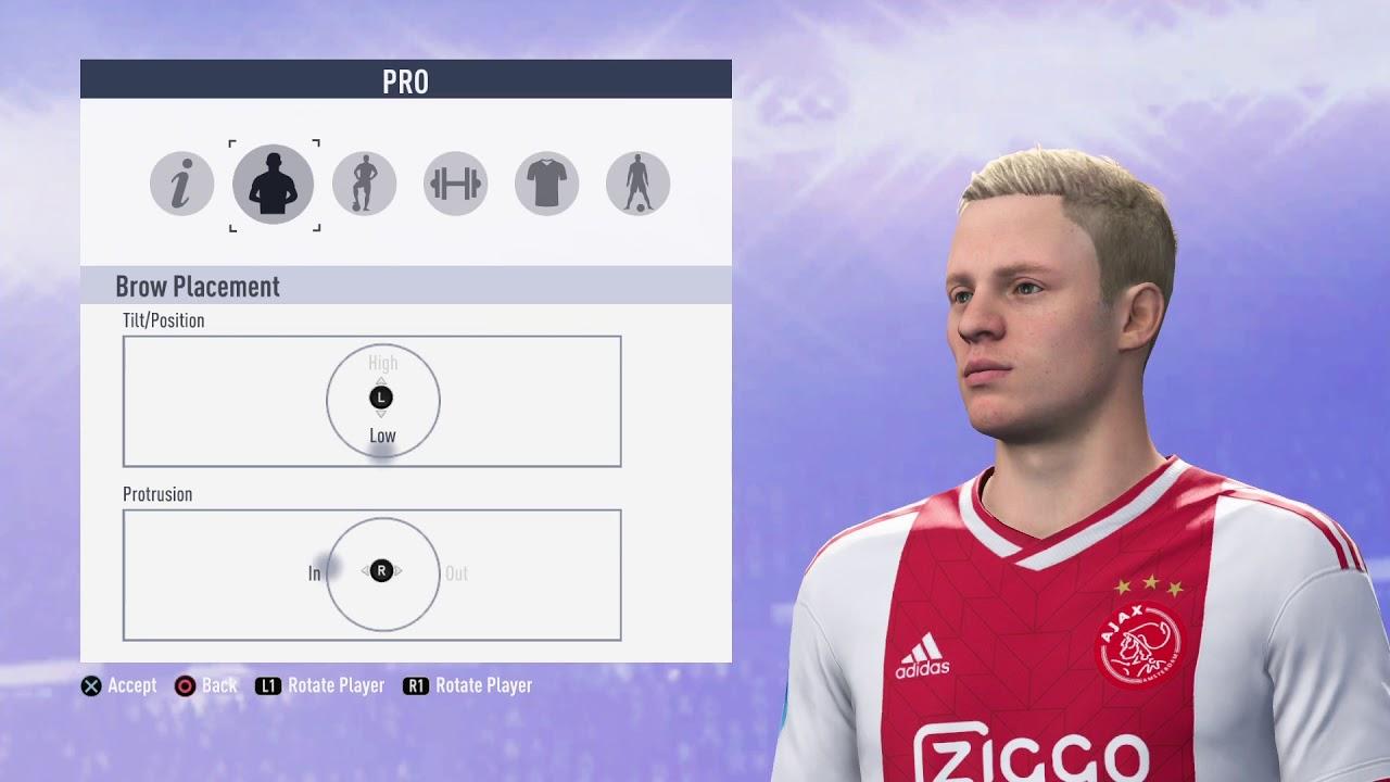 Donny Van De Beek Fifa 19 Look Alike Virtual Pro Club Youtube