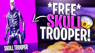 Comment obtenir GRATUITEMENT SKULL TROOPER SKIN IN FORTNITE: FREE Fortnite Skins! (PS4, XBOX, PC, iOs) SAISON 5!