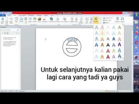 cara membuat logo dengan ms.word di pc/laptop - YouTube