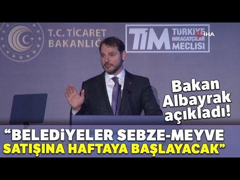 """Bakan Albayrak: """"Belediyeler Sebze-Meyve Satışına Haftaya Başlayacak"""""""