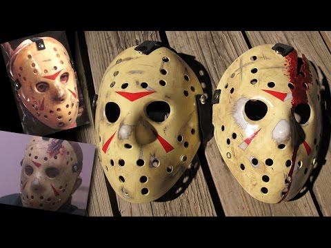 How To Make Friday The 13th Part 3 and 4 Jason Masks - DIY Painting Tutorial