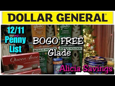 #AliciaSavings #PennyList 12/11 Penny List | BOGO FREE Glade | Dollar General Teacher Gift IDEAS