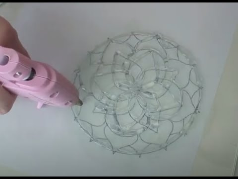 DIY How to Make a silicon DRINK coaster tutorial with hot glue gun