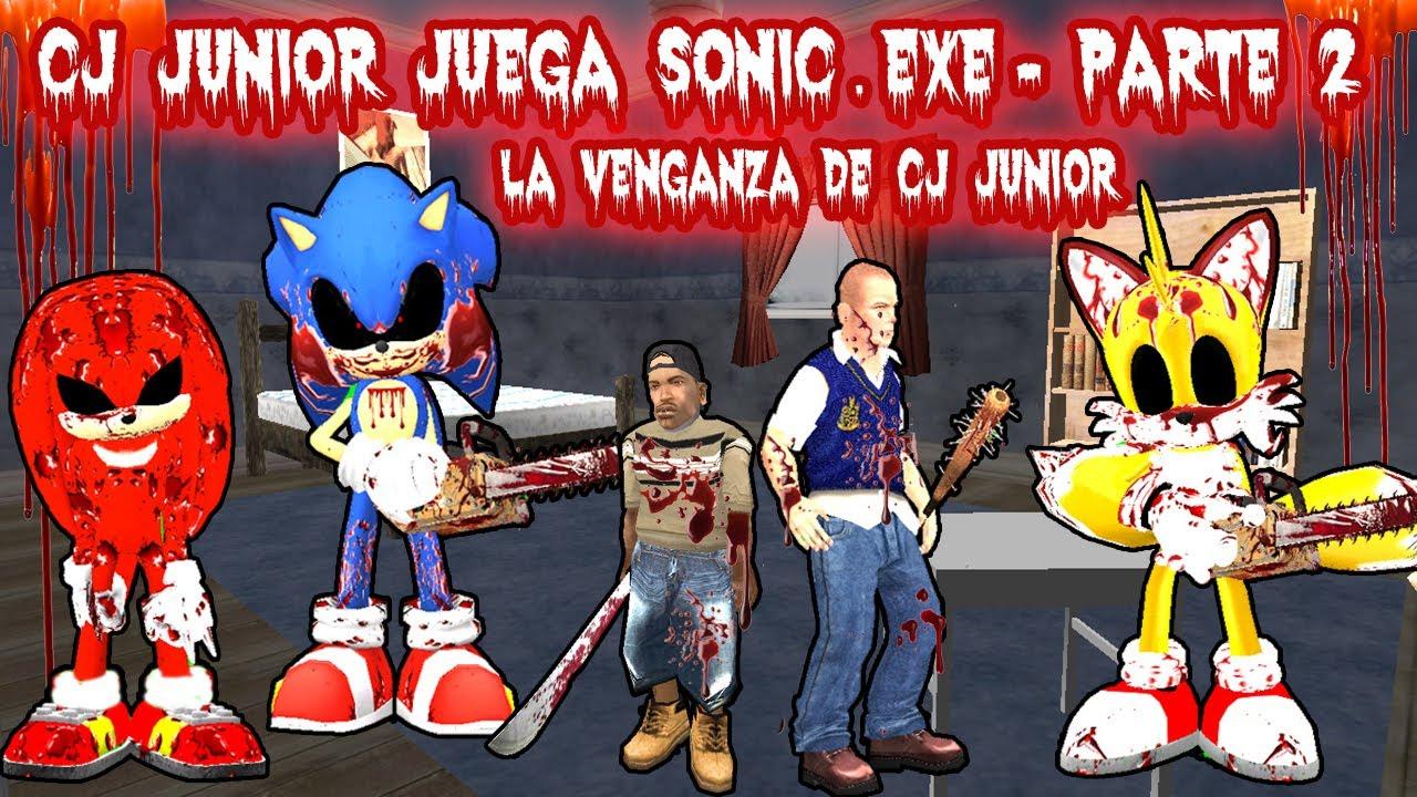 Cj Junior Juega Sonic Exe Parte 2 La Venganza