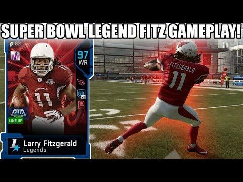 SUPER BOWL LEGEND LARRY FITZGERALD GAMEPLAY! 97 LARRY FITZGERALD GAMEPLAY! | MADDEN 19 ULTIMATE TEAM