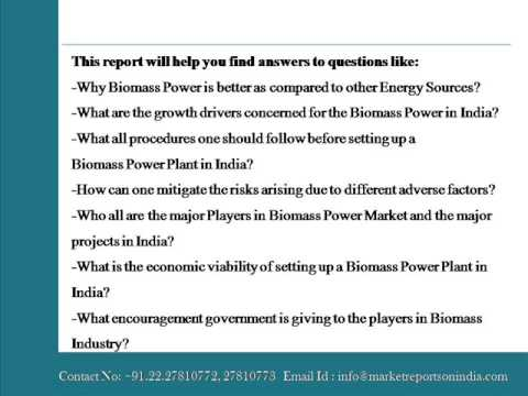 Biomass in India Evaluating the Potential for Power Production 2