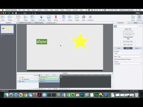 Adobe Captivate: Variables and Advanced Actions to Toggle a Button State and Show/Hide an Object