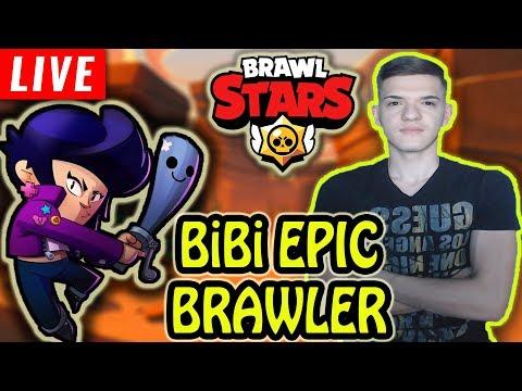 🔴[LIVE] BIBI - NOUL BRAWLER EPIC SI LOCUL 1 GLOBAL CU CROW! Brawl Stars Romania