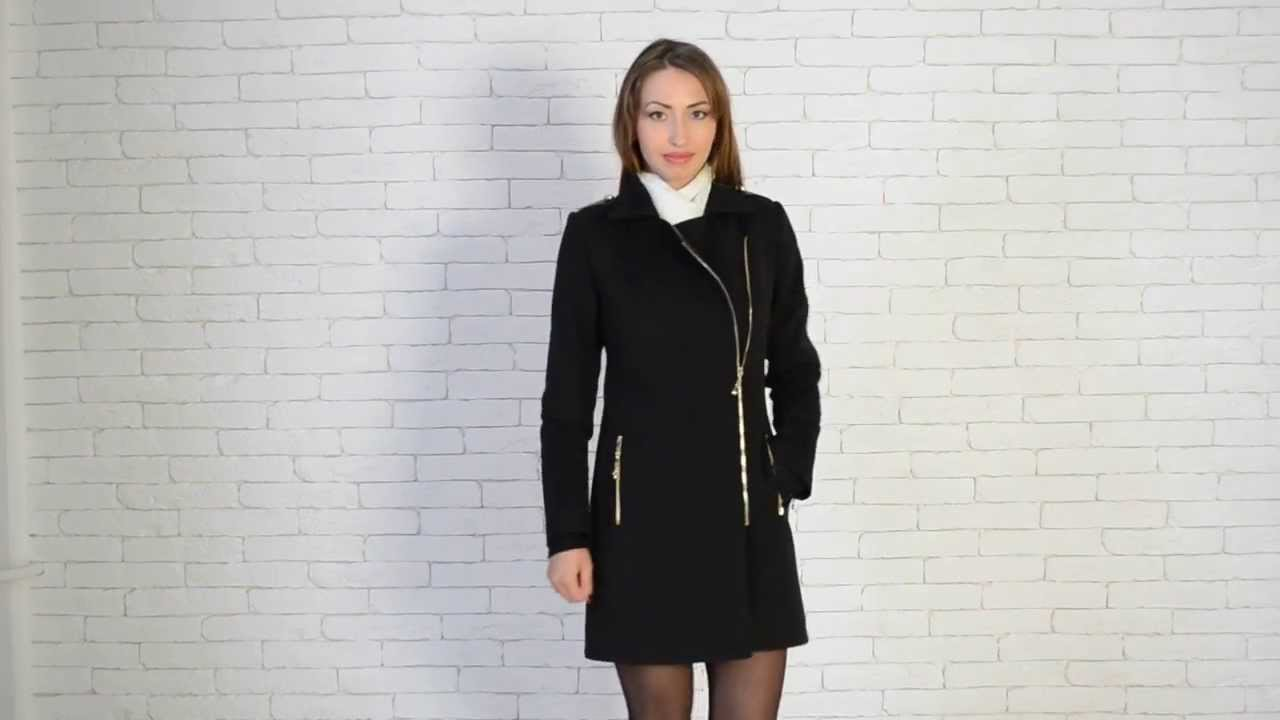 Modena-Fashion.ru Черное короткое пальто Анкона - YouTube c6bb0ee7fc151