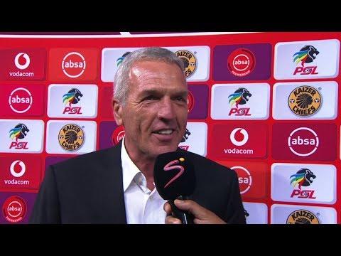 Absa Premiership 2019/20   Kaizer Chiefs v Highlands Park   Post-match interview Ernst Middendorp