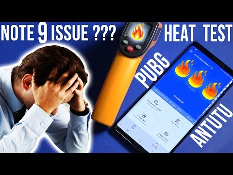 Samsung Galaxy Note 9 Heat test after PUBG Gameplay and Antutu Benchmark Test 🔥🔥🔥