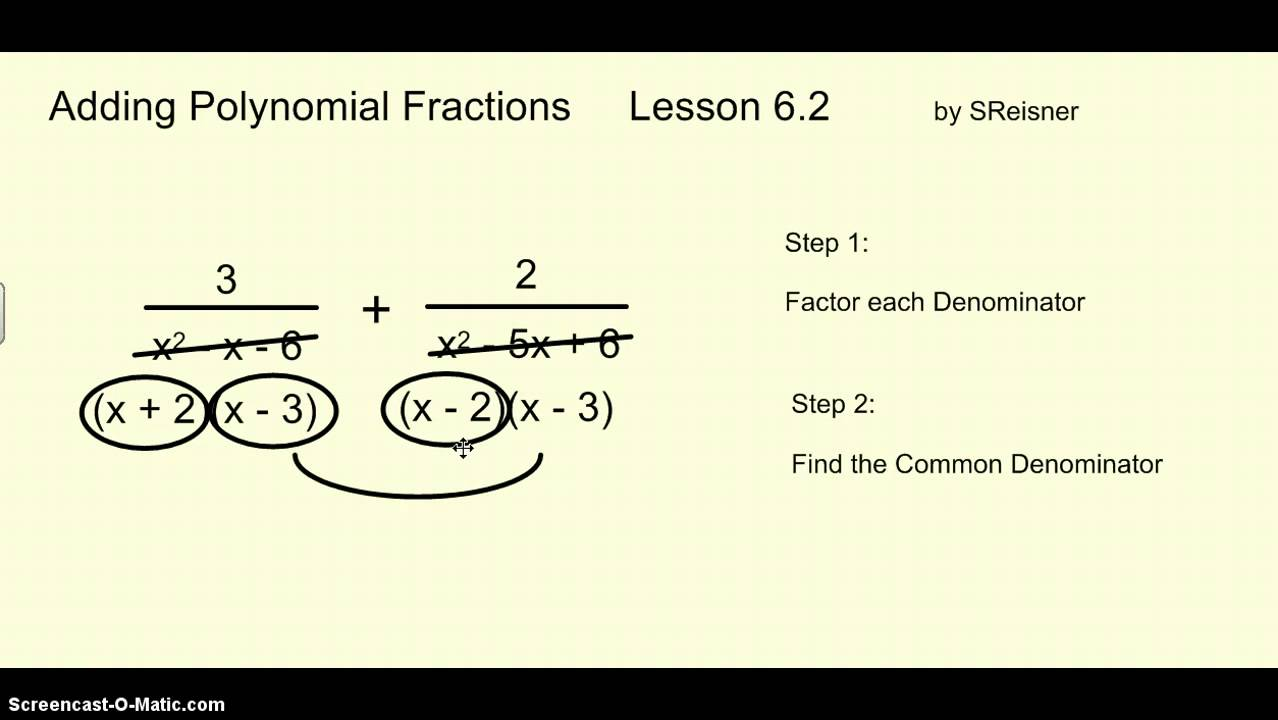 The Best Way To Add Polynomial Fractions With Unlike Denominators