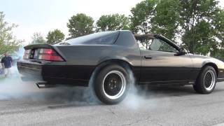 Third gen fest 2012, camaros and firebirds burnouts. video 1