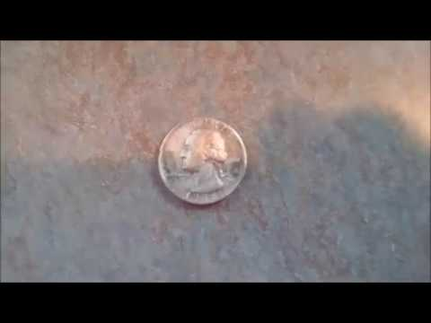How To Clean Metal Detecting Finds - Silver Quarter Electrolysis Marshall Metal Detecting