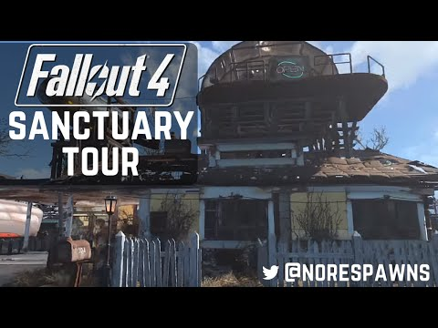 Fallout 4 - Detailed Sanctuary Tour (with commentary)